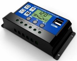 10A Solar Charge Controller-LCD Display with Dual USB Ports-12V:24V
