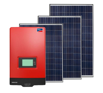 SMA Inverter and Solar Panels Image