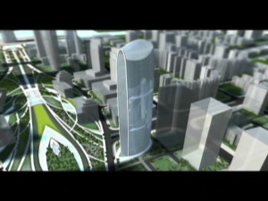 Video China's green tower